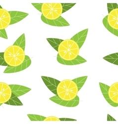 Seamless lemon pattern on white background vector image vector image