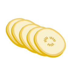 banana sweet fruit a fruit single icon in vector image vector image