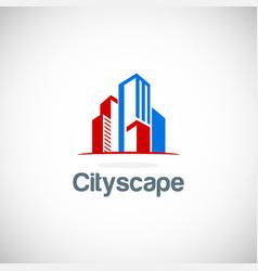 building cityscape logo vector image vector image