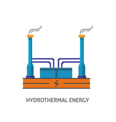 geothermal power plant icon in flat style vector image vector image