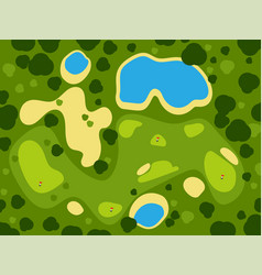 golf field course green grass sport landscape play vector image vector image