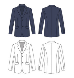 long short sleeved mans buttoned jacket vector image vector image