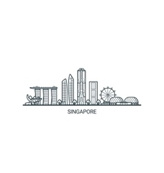 Outline Singapore banner vector image vector image