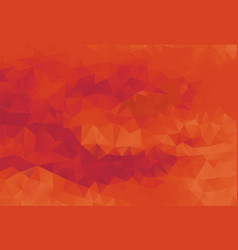 polygon background passionate red vector image