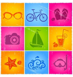 summer set vector image vector image
