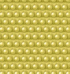 Golden cube and shere pattern vector image