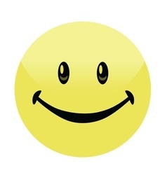 Happy Smiley Face Button Badge vector image
