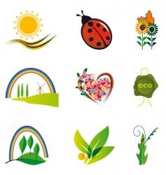 natural design elements vector image vector image