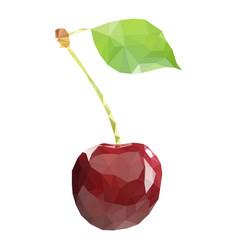 polygonal cherry in vector image