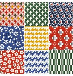 seamless japanese style kimono pattern vector image vector image