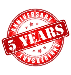 5 years anniversary stamp vector