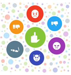 7 bad icons vector