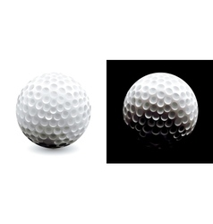 A close-up of a golf ball over dark background vector