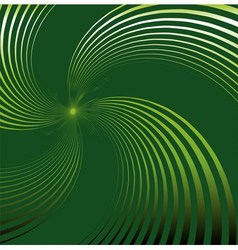 Abstract green background with swirl vector