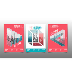 annual report 2020 20212022 polygon geometric vector image