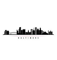 Baltimore skyline horizontal banner vector