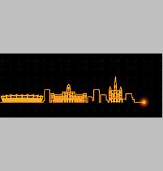 belo horizonte light streak skyline profile vector image