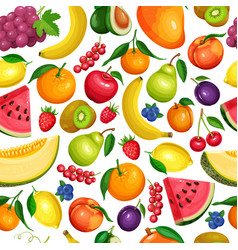 Berries and fruits seamless vector