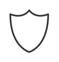 blank shield icon vector image
