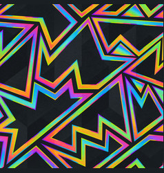 bright neon geometric seamless pattern vector image