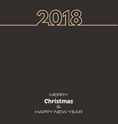 brown happy new year 2018 background vector image