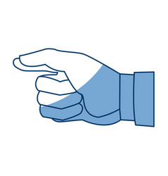 cartoon hand man gesture image vector image