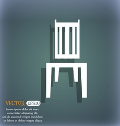 Chair icon On the blue-green abstract background vector