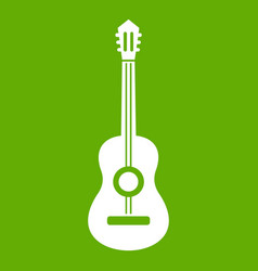 classical guitar icon green vector image