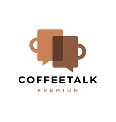 coffee talk logo icon vector image