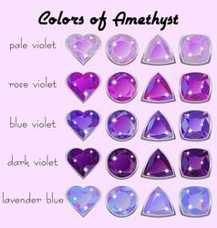Colors of amethyst vector