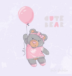 cute and sweet bear vector image