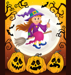 Cute witch theme image 6 vector
