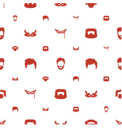 Disguise icons pattern seamless white background vector