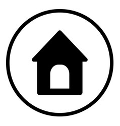 doghouse icon in round style is a vector image