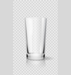 empty realistic drinking glass cup transparent vector image