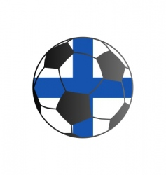 flag of Finland and soccer ball vector image