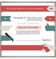 Flat design elements for documentation set1 vector