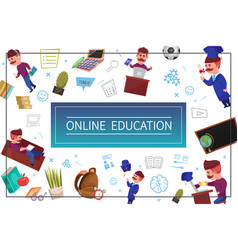 flat online education concept vector image