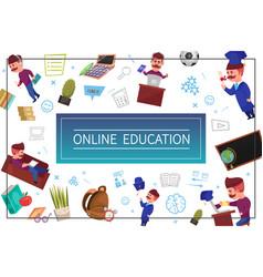 flat online education concept vector image