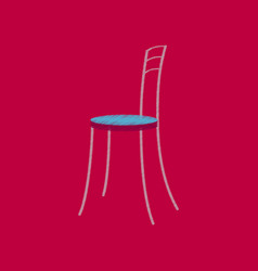 Flat shading style icon chair vector