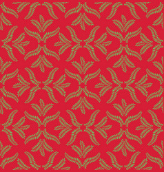 Floral ornamental pattern geometric flourish vector