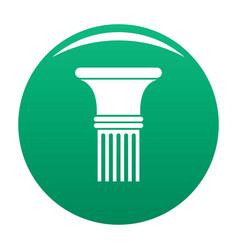 Fluted column icon green vector