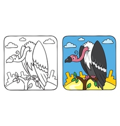 Funny vulture coloring book vector image vector image