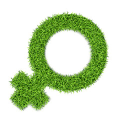 gender marks from grass-04 vector image