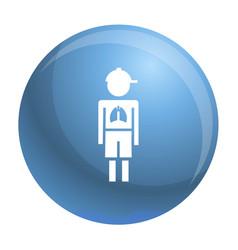 Girl boy pneumonia virus icon simple style vector