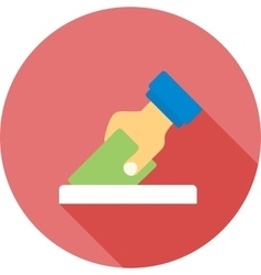 Giving Vote vector image