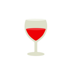 glasses for the wine icons of color vector image