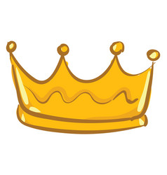 Golden crown or color vector