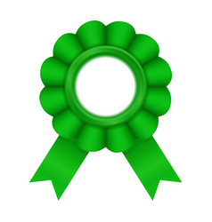 Green award badge vector