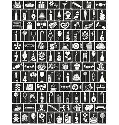 Icons birthday vector